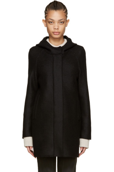 Harris Wharf London - Black Wool Polaire Parka