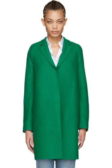 Harris Wharf London - Green Wool Cocoon Coat