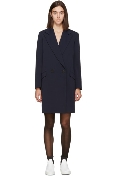 Atea Oceanie - Navy Crepe Blazer Dress
