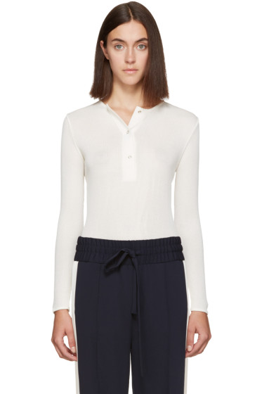 Atea Oceanie - Off-White Ribbed Henley