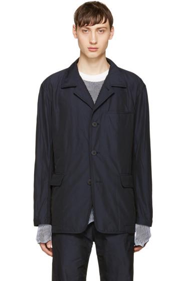 Issey Miyake Men - Navy Woven Blazer