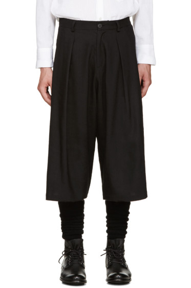 Isabel Benenato - Black Pleated Trousers