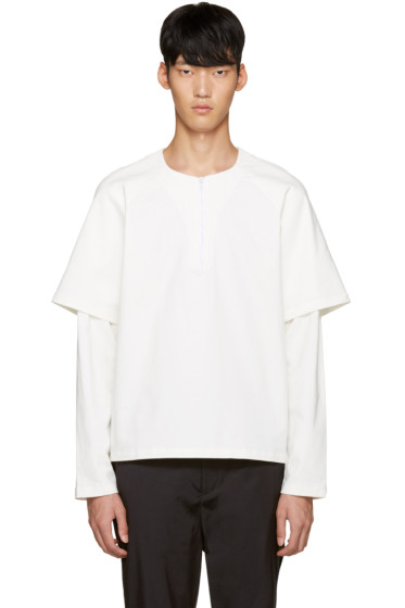 Sunnei - White Drill College Pullover