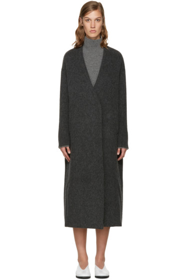 Enfold - Grey Wool Gown Coat
