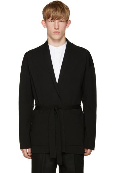 Tomorrowland - Black Wool Kimono Cardigan