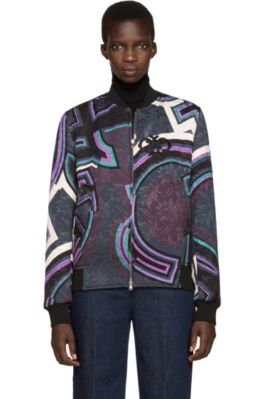 Emilio Pucci - Multicolor Patterned Bomber Jacket