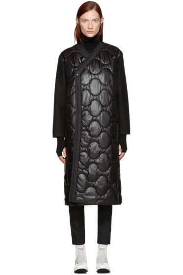 Hyke - Black Quilted Nylon Coat