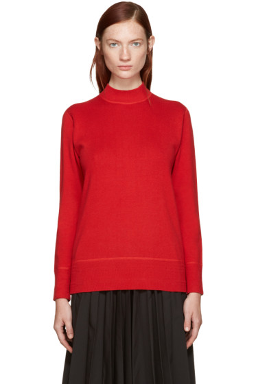 Hyke - Red Mock Neck Sweater