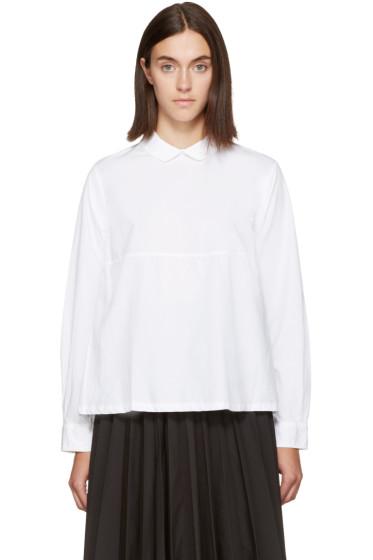 Chimala - White Round Collar Shirt
