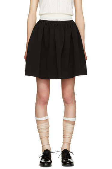 Miu Miu - Black Volume Miniskirt