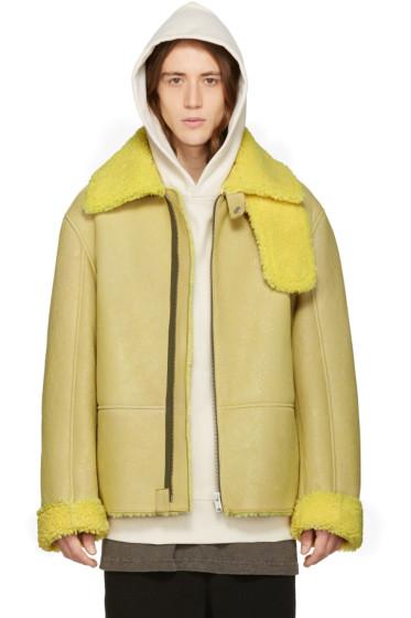 YEEZY - Yellow Shearling Flight Coat