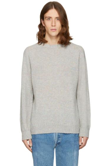 Bless - Grey Wool Pearlpad Sweater