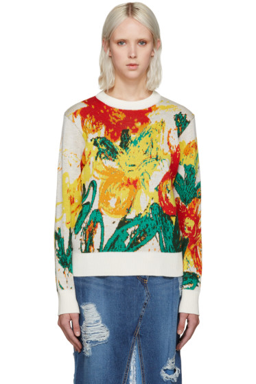 Writtenby - Multicolor Floral Knit Sweater
