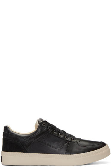 Diesel - Black Leather S-Spaark Sneakers