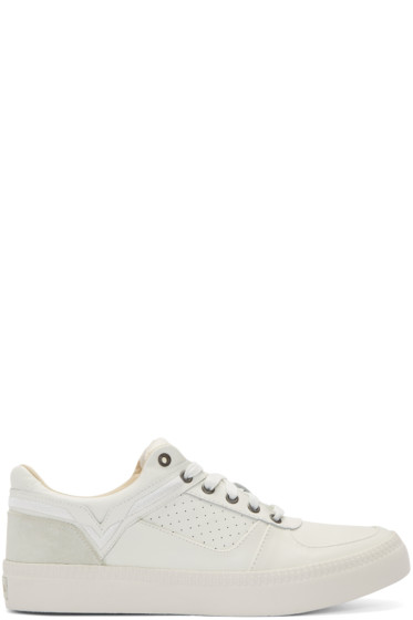 Diesel - White Leather S-Spaark Sneakers