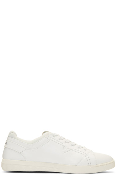 Diesel - White S-Studdzy Lace Sneakers