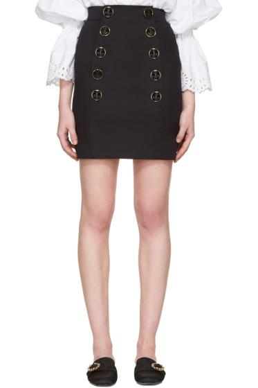 Dolce & Gabbana - Navy Buttoned Miniskirt