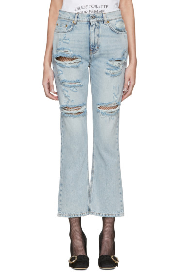 Dolce & Gabbana - Blue Embroidered Jeans