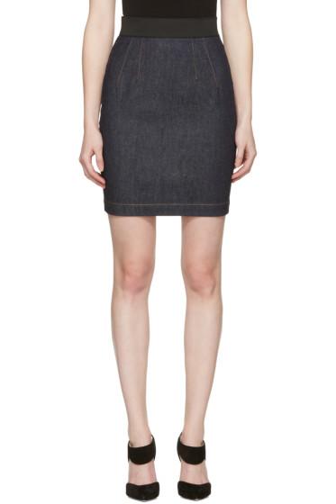 Dolce & Gabbana - Navy Denim Miniskirt