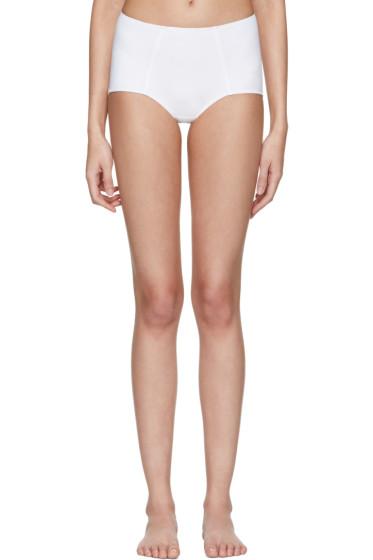 Dolce & Gabbana - White High-Waisted Bikini Bottoms