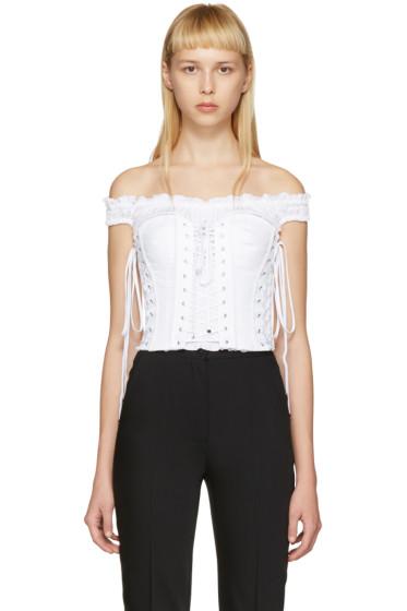 Dolce & Gabbana - White Bustier Top