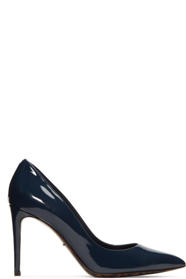 Dolce & Gabbana - Navy Patent Leather Kate Heels