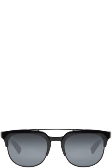 Dolce & Gabbana - ブラック ダブル ブリッジ サングラス