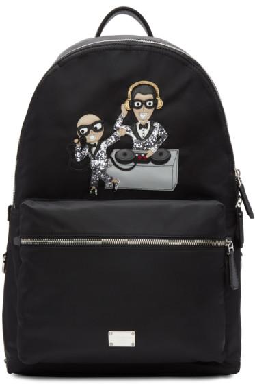Dolce & Gabbana - Black Nylon DJ Designers Backpack