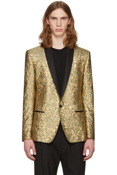 Dolce & Gabbana - Gold Jacquard Blazer