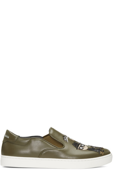 Dolce & Gabbana - Green Designers Slip-On Sneakers