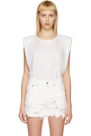 R13 - Off-White Trapeze Muscle T-Shirt