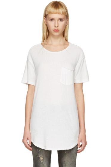 R13 - Off-White Pocket T-Shirt