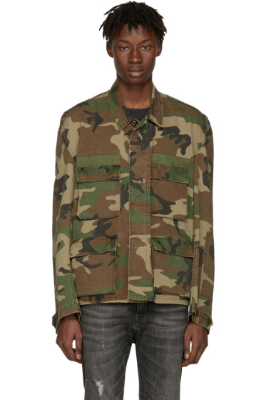 R13 - Green Camo Misfit Field Jacket