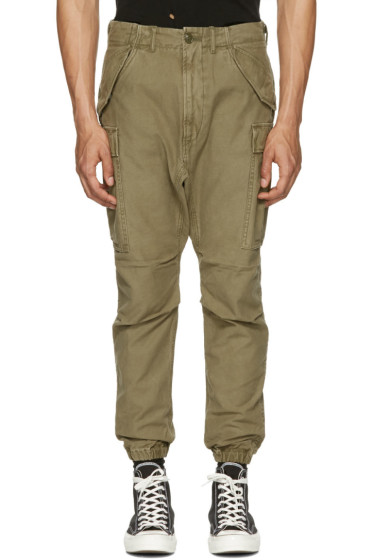 R13 - Green Military Cargo Pants