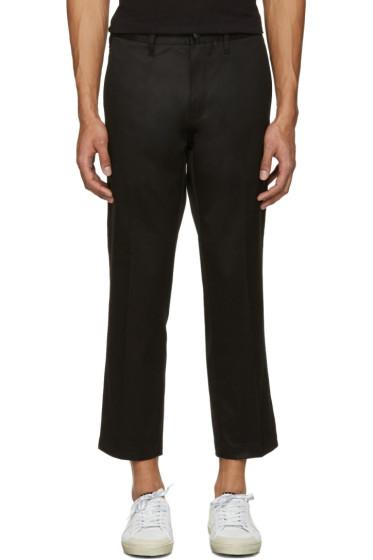 R13 - Black Skinhead Trousers