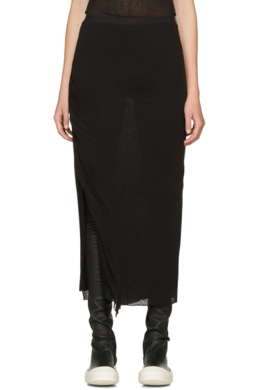 Rick Owens Lilies - Black Slit Skirt