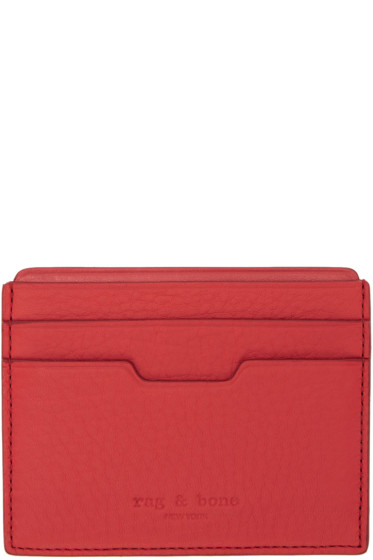 Rag & Bone - Red Leather Card Holder