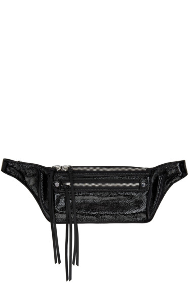 Rag & Bone - Black Small Patent Leather Fanny Pack