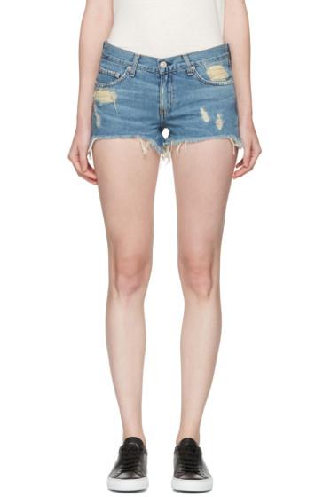 Rag & Bone - Blue Denim Cut-Off Shorts