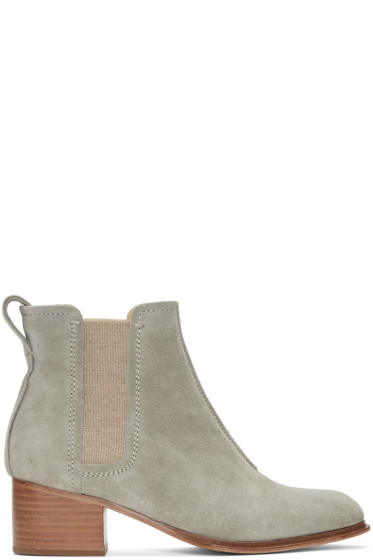 Rag & Bone - Grey Suede Walker II Boots