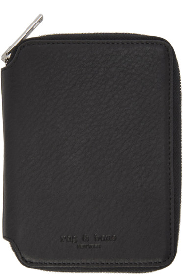 Rag & Bone - Black Small Zip Around Wallet