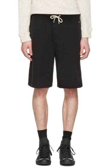 Rag & Bone - Black Standard Issue Sweat Shorts