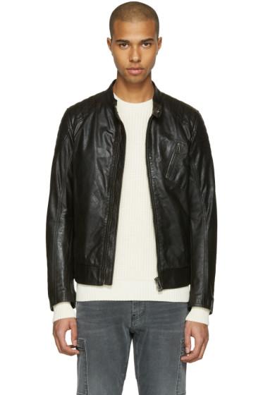 Belstaff - Black Leather Sandway Jacket
