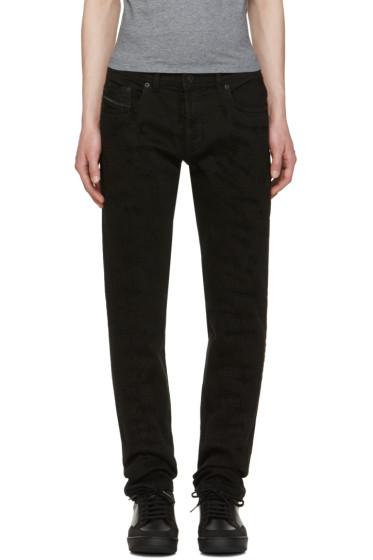 Diesel Black Gold - Black Distressed Type-253 Jeans