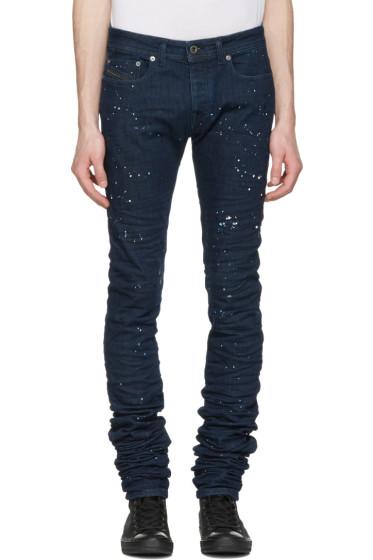 Diesel Black Gold - Blue Splatter 2614 Jeans