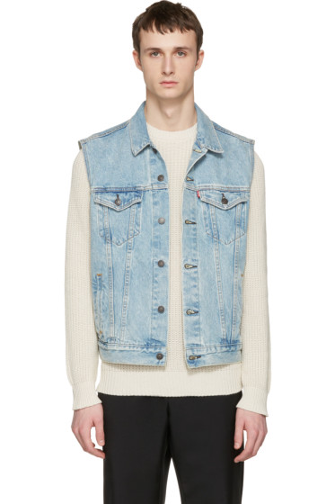 Levi's - Blue Denim Trucker Vest
