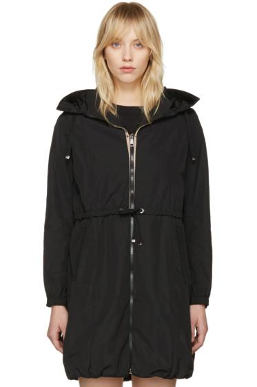 Moncler - Black Tuile Hooded Coat