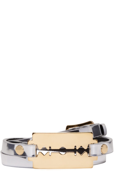 McQ Alexander McQueen - Silver Razor Triple Wrap Bracelet
