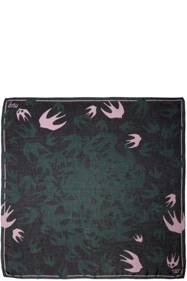 McQ Alexander McQueen - Green Swallow Swarm Scarf