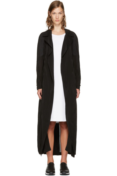 McQ Alexander McQueen - Black Transparent Long Coat